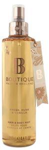 Boutique Vegan Body Spray Amber, Musk & Vanilla (250mL)