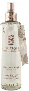 Boutique Vegan Body Spray Mandarin, Basilik & Grapefruit (250mL)