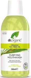 Dr. Organic Tea Tree Mouthwash (500mL)