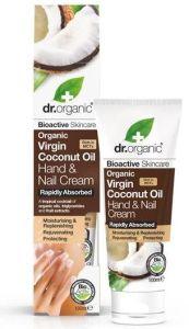 Dr. Organic Coconut Oil Hand & Nail Cream (100mL)