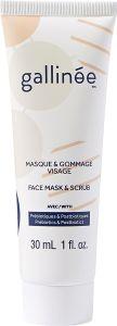 Gallinée Prebiotic Face Mask and Scrub (30mL)