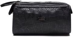 JJDK Cosmetic Bag Aksel Black Croco PU (22x11x14) 61236