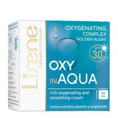 Lirene Daily Moisturizing Cream with Oxygen Complex OXY in Aqua for Sensitive Skin with SPF30  (50mL)