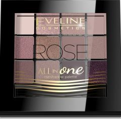 Eveline Cosmetics All In One Eyeshadow Palette 12 Colors Rose