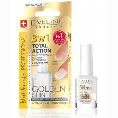 Eveline Cosmetics Nail Therapy Total Action Intensive Nail Conditioner Withgold Particles (12mL)