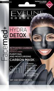 Eveline Cosmetics Facemed+ Hydra Detox Purifying&moisturising Carbon Mask (2x5mL)