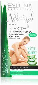 Eveline Cosmetics Active Epil Body Depilation Wax Strips Aloe Vera (12pcs)