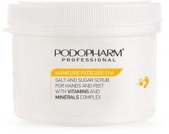 Podopharm Manicure Pedicure Spa Salt and Sugar Scrub for Hands and Feet (600g)