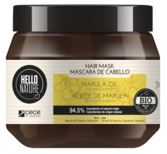 Hello Nature Hair Mask Marula Oil Softness & Shine (300mL)