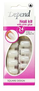 Depend Nail Kit with Pink Glue