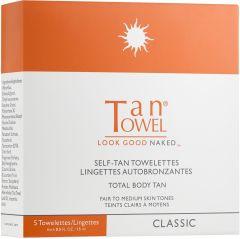 Tan Towel Self Tan Towelettes Full Body (5pcs) Classic Fair to Medium Skin