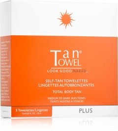 Tan Towel Self Tan Towelettes Full Body (5pcs) Plus Medium to Dark Skin