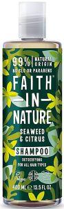 Faith in Nature Detoxifying Shampoo Seaweed & Citrus (400mL)
