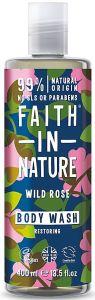 Faith in Nature Restoring Shower Gel/Foam Bath Wild Rose (400mL)