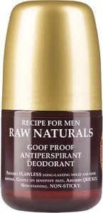 Recipe for Men Raw Naturals Goof Proof Antiperspirant Deodorant (60mL)