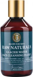 Recipe for Men Raw Naturals Glacier Water Face Cleansing Fluid (250mL)