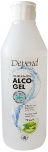 Depend Moisturising Alco Gel 77vol% Effective Against Bacteria and Viruses (500mL)
