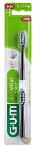 Gum Activital Sonic Power Toothbrush Refills Black
