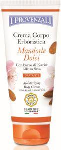 I Provenzali Sweet Almonds Moisturizing Body Cream with Sweet Almond Oil (200mL)