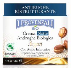 I Provenzali Argan Organic Anti-wrinkle Night Face Cream (50mL)