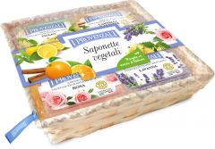 I Provenzali Gift Basket with 5 Vegetal Bar Soaps (5x100g)