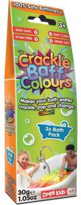 Zimpli Kids Crackle Baff Colours 3 Pack (30g)