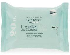 Byphasse Make-up Remover Wipes Aloe Vera Sensitive Skin (20psc)