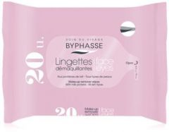 Byphasse Make-up Remover Wipes Milk Proteins All Skin Types (20psc)