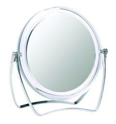 Casuelle Shaving/Make up Standing Mirror, Normal+5X Magnifying, Ø10cm