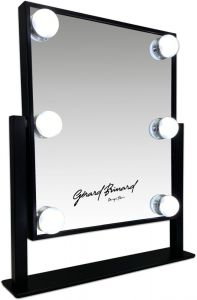 Gerard Brinard Black Small Hollywood Make-Up LED Mirror