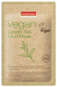 Purederm Vegan Green Tea Mud Mask (15g)