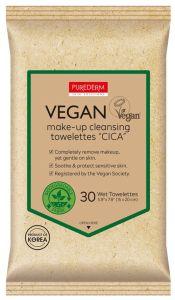 "Purederm Puredem Vegan Make-up Cleansing Towelettes ""Cica"" (30pcs)"