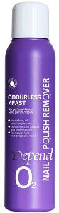 Depend O2 Nailpolish Remover Odourless / Fast (100mL)