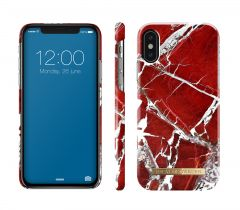 iDeal of Sweden Fashion Case iPhone X/Xs Scarlet Red Marble