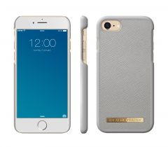 iDeal of Sweden Fashion Case Saffiano iPhone 8/7/6/6S Plus Light Grey