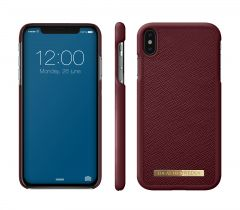 iDeal of Sweden Fashion Case Saffiano iPhone XS Max Burgundy