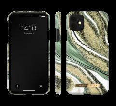 iDeal of Sweden Fashion Case iPhone 11/XR Cosmic Green Swirl