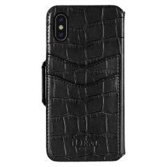 iDeal of Sweden Fashion Wallet iPhone X/Xs Capri & Como, Black Croco