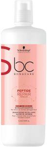 Schwarzkopf Professional Bonacure Peptide Repair Rescue Deep Nourishing Micellar Shampoo (1000mL)
