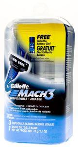 Gillette Mach 3 Disposable + Free Gillette Series Gel