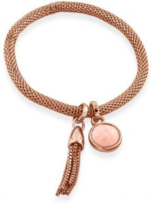 Buckley London Carnaby Rose Quartz Mesh Bracelet BT817