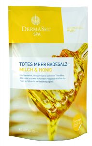 Dermasel Dead Sea Salt Tonic-Softening Milk&Honey (400g+20mL)