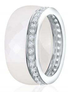 Dondella Ring Ceramic Double 15.25 CJT8-2-R-48