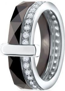 Dondella Ring Ceramic Sparkle 17.75  CJT120-1-R-56