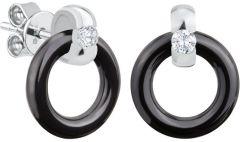 Dondella Earrings Ceramic Circle CJT11-2-E