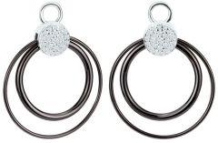 Dondella Ceramic Double Circle Ear Charms  CDO3-1-C