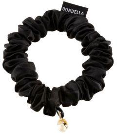 Dondella Luxury Silk Black Scrunchie HSC2-J-S