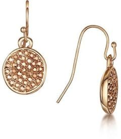 Buckley London Metallic Pave Disc Earrings E2148