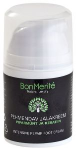 BonMerité Intensive Repair Foot Cream Pepperming And Keratin (50mL)