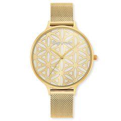Engelsrufer Watch Flower Of Life Gold Mesh Strap Gold